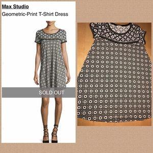 8736581d Max Studio Dresses - Max Studio Geometric Short Sleeve T-shirt Dress M